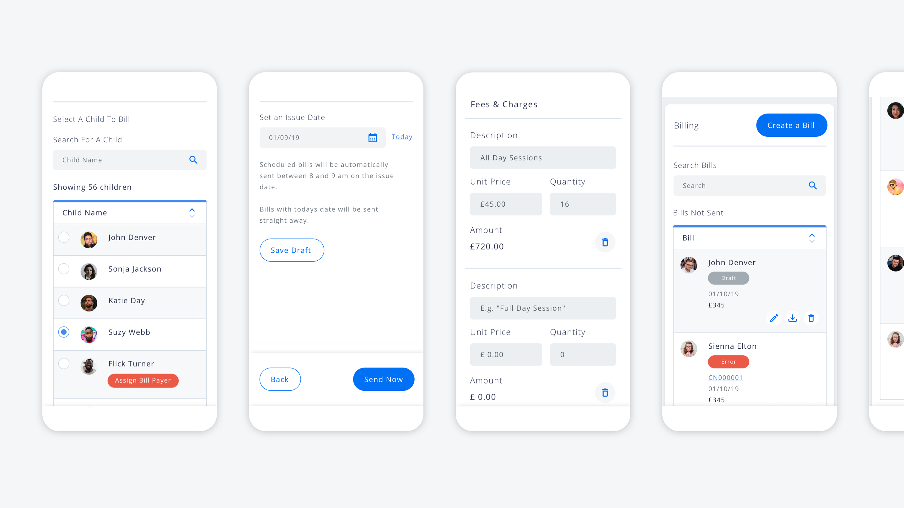Billing Mobile Designs